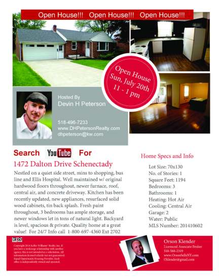 1472 Dalton Dr Open House Jul 20